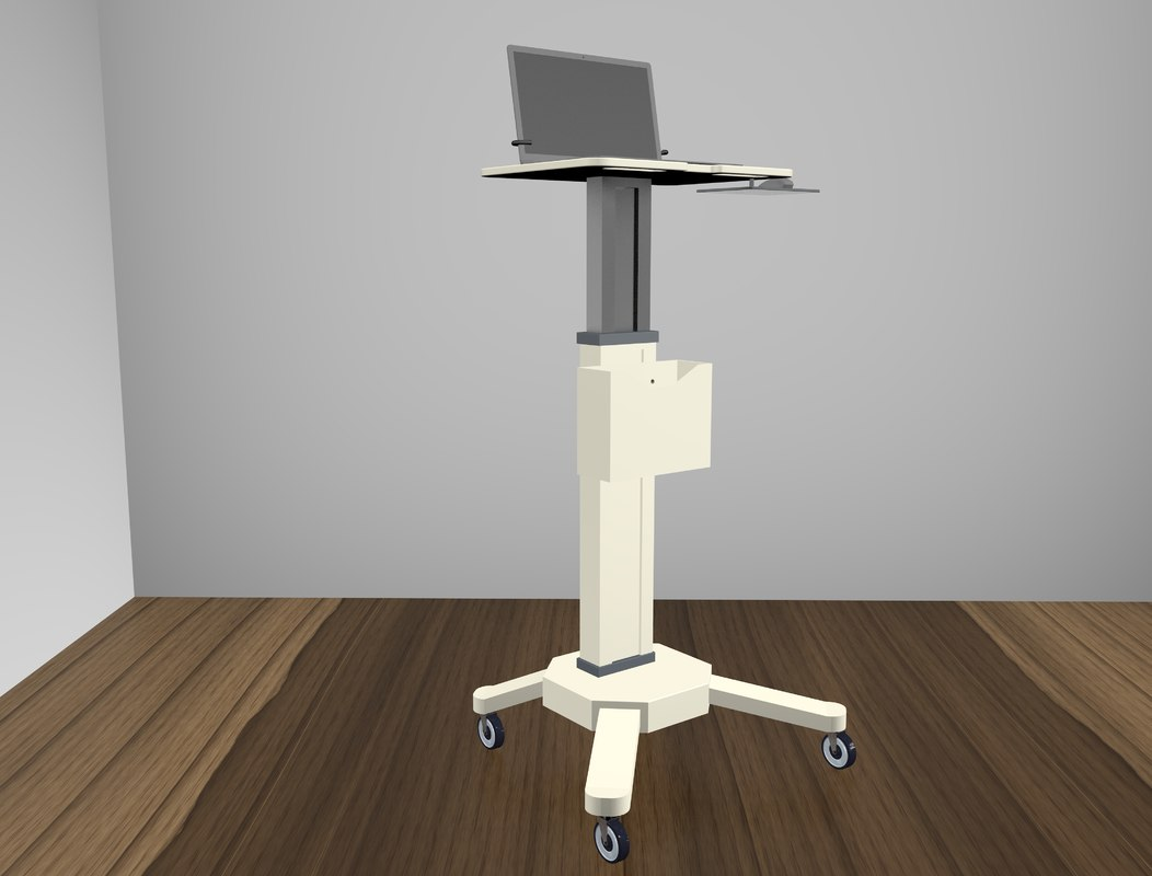mobile laptop cart 3D model