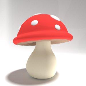 mushroom cartoon 3D model