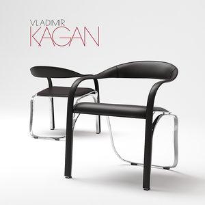 3D model fetuccini chair single 165