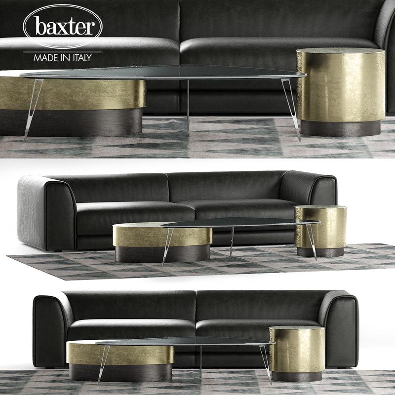 3D baxter rafael sofa composition model
