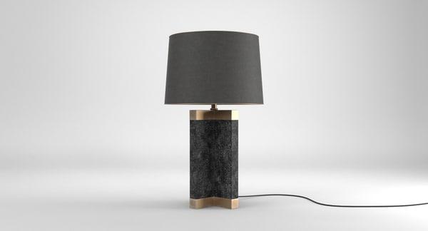 3D bari shagreen table lamp