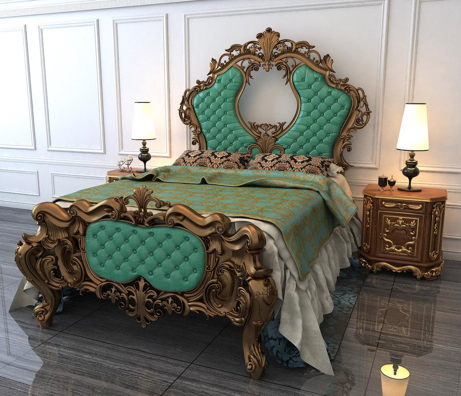 classic bed 3D