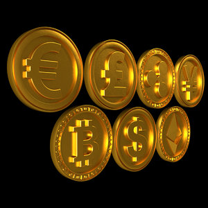 3D dollar coin