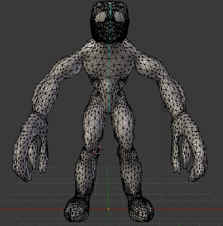 3D simple animations mesh model