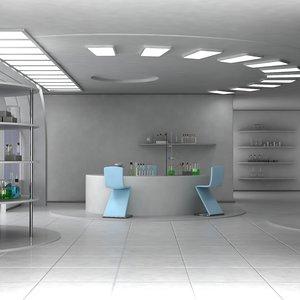 modern laboratory 3D
