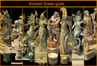3D ancient greek gods