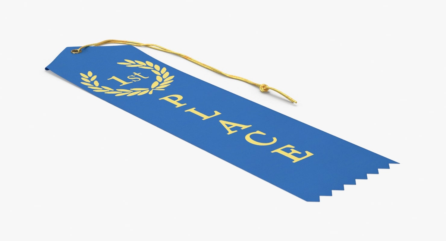 prize-ribbon-02---1st-place-flat 3D model