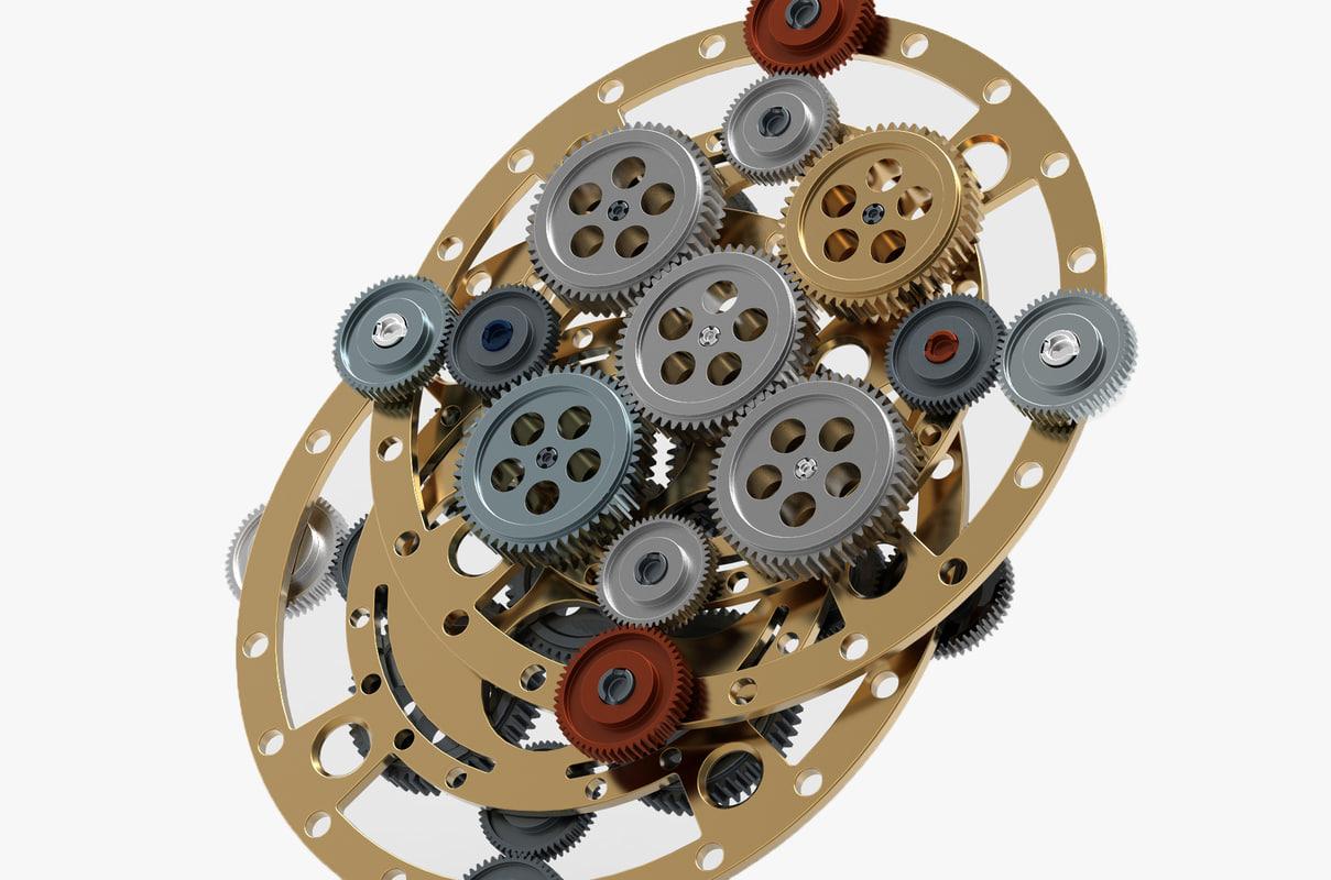gear mechanism v 3D model