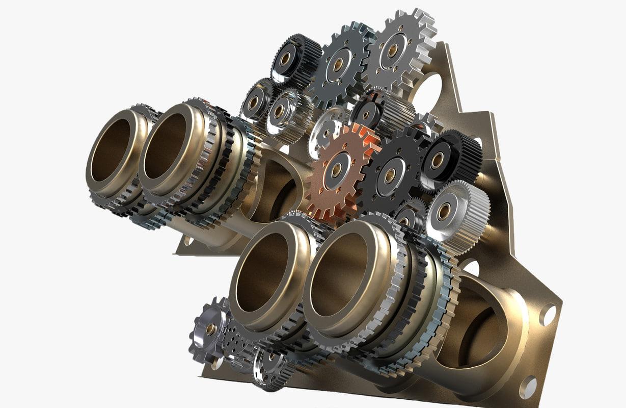 gear mechanism model