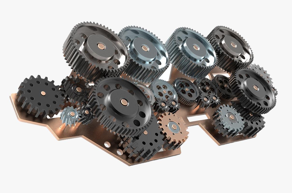 gear mechanism v 1 3D