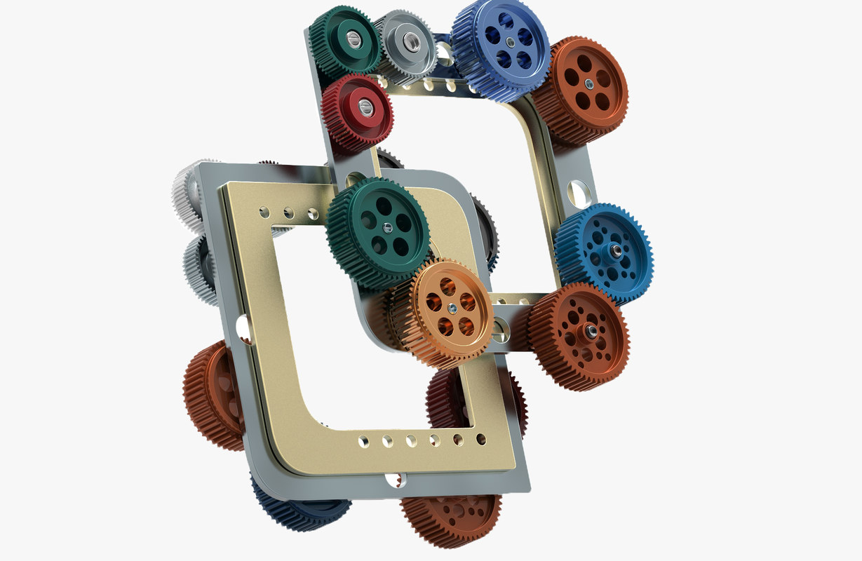gear mechanism 3D model