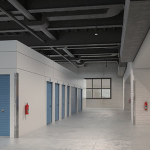 3D indoor storage units model