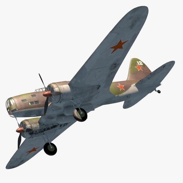 long-range bomber world 3D model