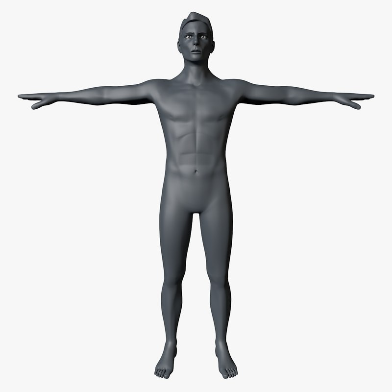 male body meshes 3D
