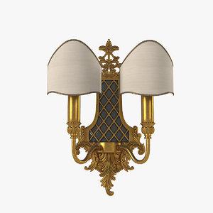 3D masiero1063 2 wall lamp model