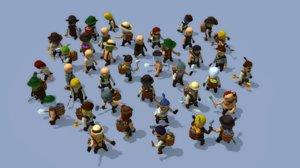 3D character npcs