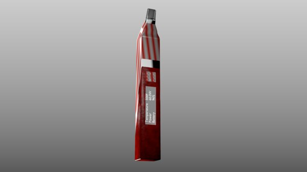 3D electronic cigarette design red leather