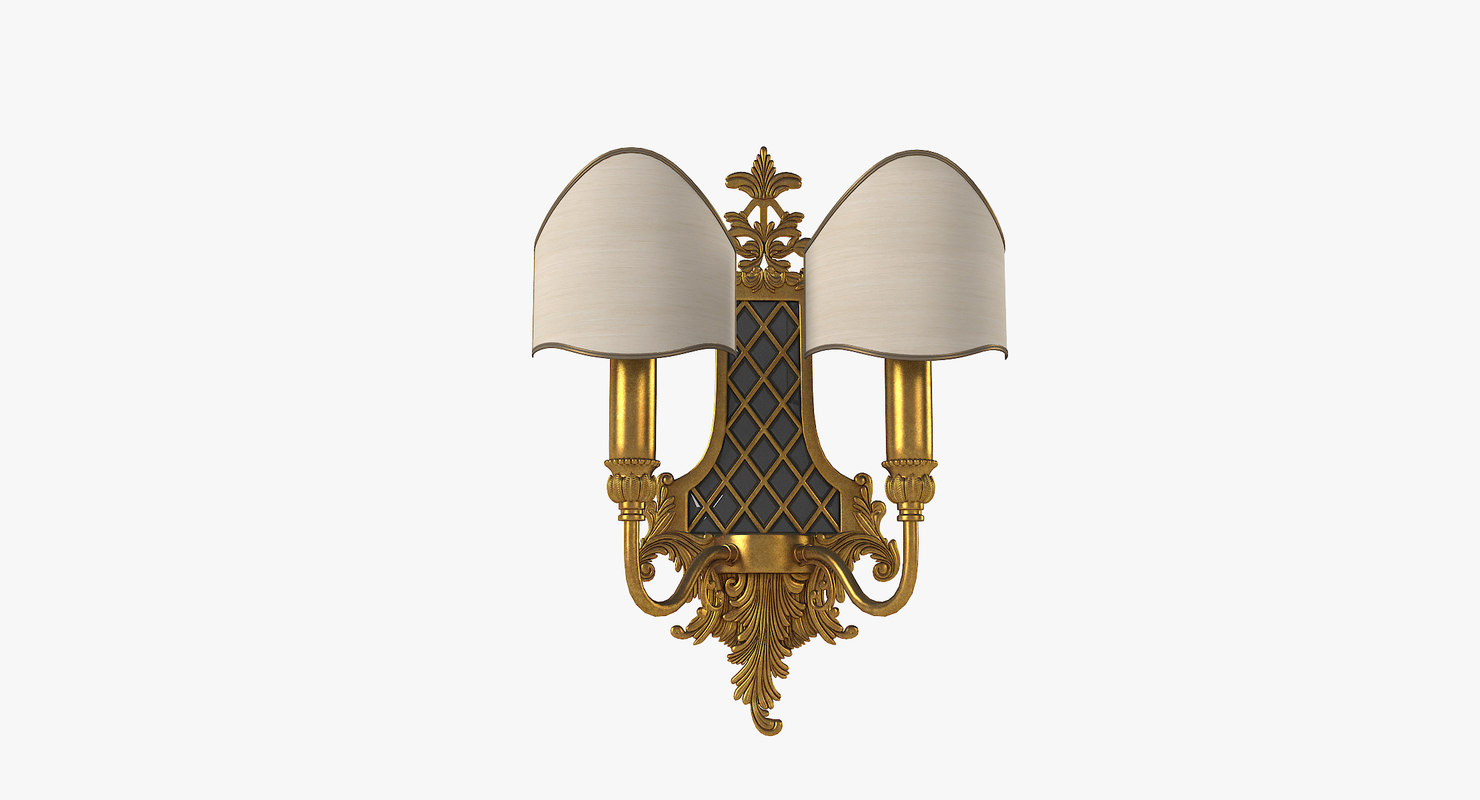 3D masiero1063 2 wall lamp model