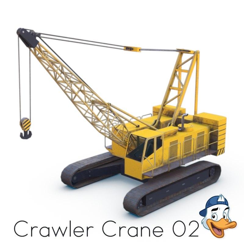 3D crawler crane model
