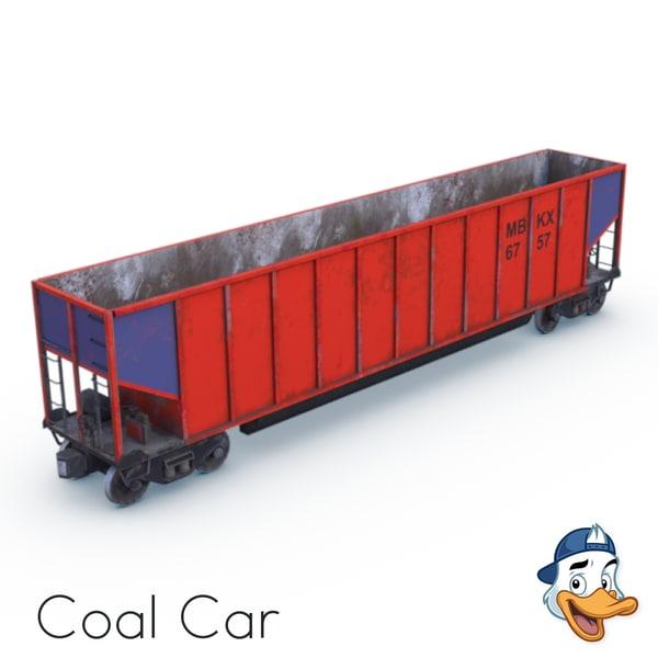 3D coal car