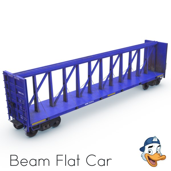 beam flat car 3D model