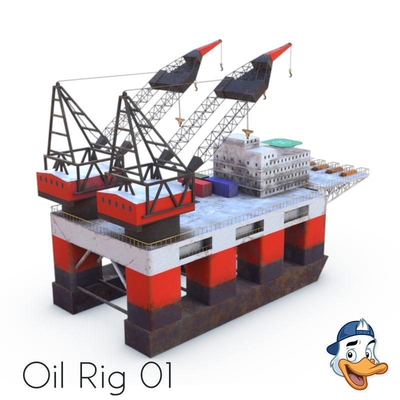 oil rig 01 model