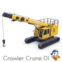3D crawler crane 01