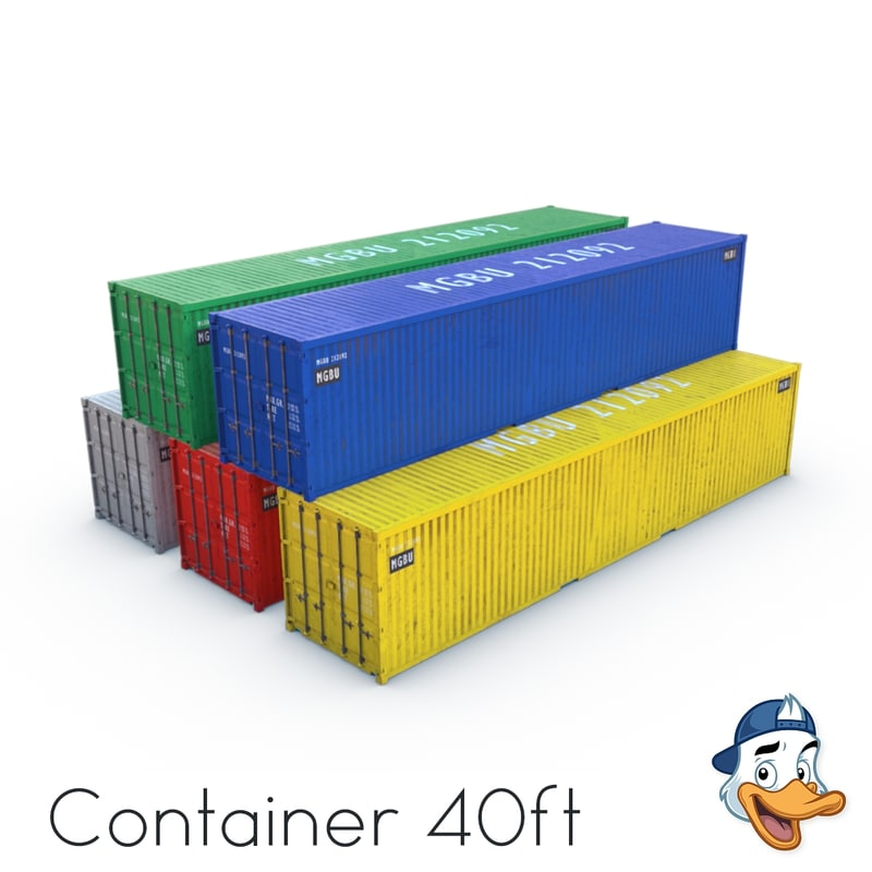 container 40ft 3D