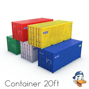 container 20ft 3D model