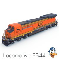 3D locomotive es44