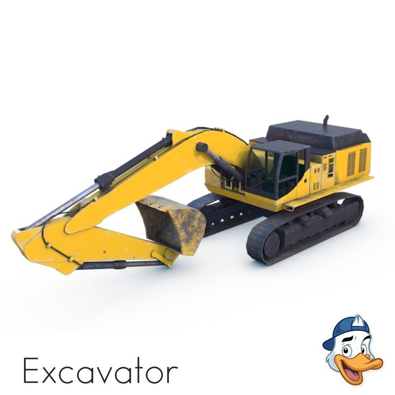 3D excavator unreal engine model