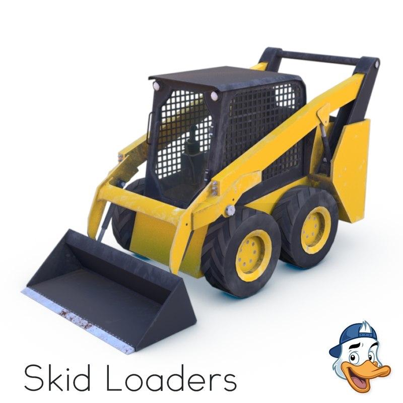 3D model skid loaders