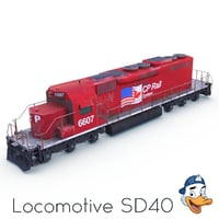 3D model locomotive sd40
