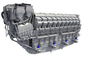 3D model marine propulsion engine