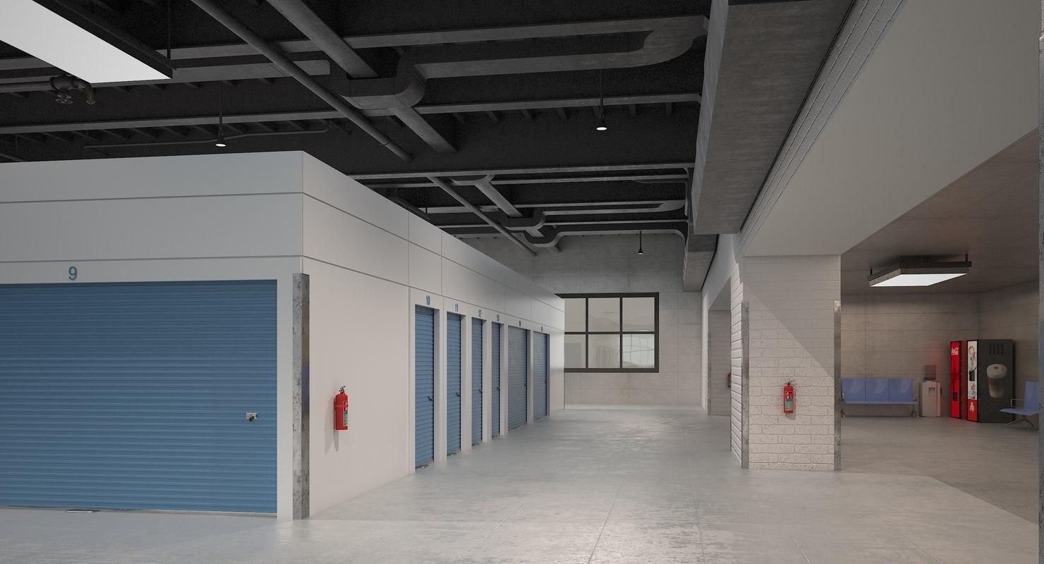 3D indoor storage units model