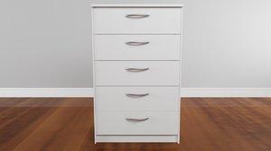 3D newport chest white drawer model
