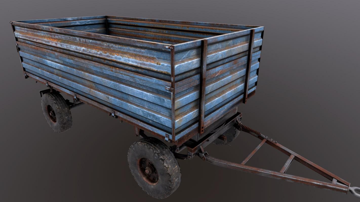 tractor trailer 3D model