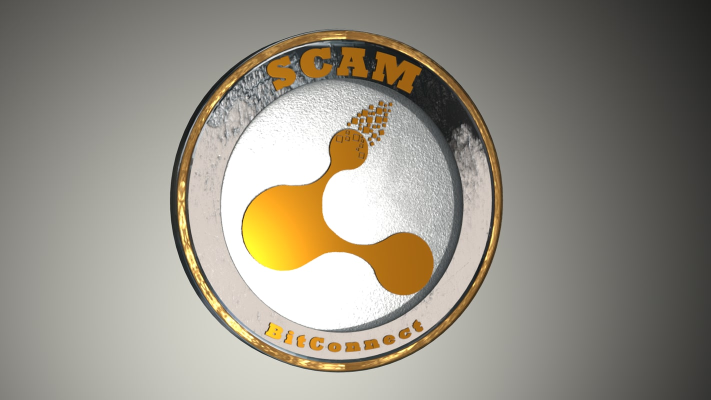 bitconnect scam coin 3D model