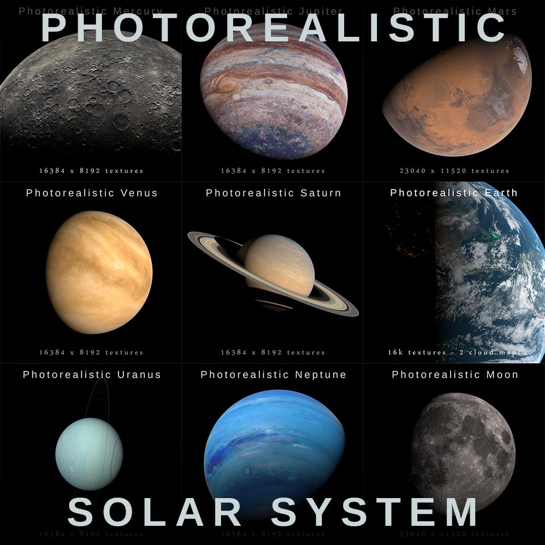 3D model nasa planets solar