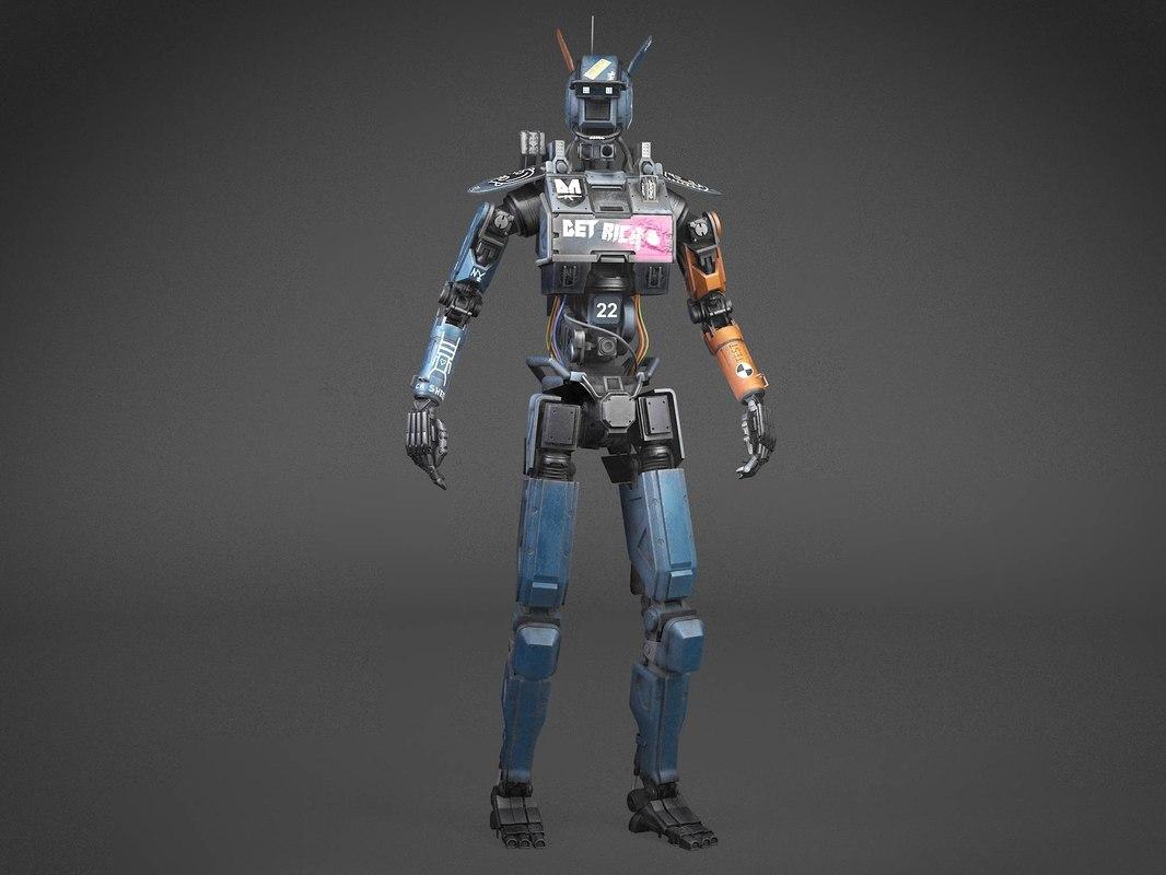 Robot Rigged Character Robot Rigged Character Digital