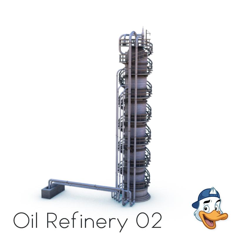 3D oil refinery