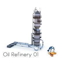 3D oil refinery model