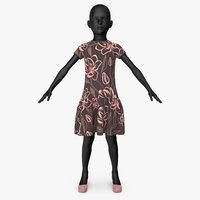 dress girl v1 3D