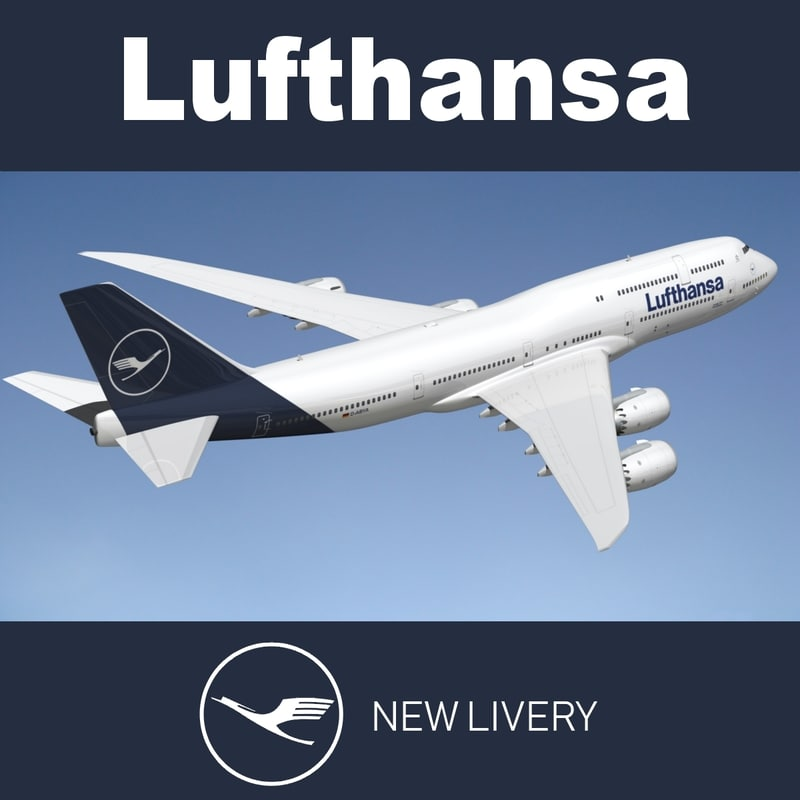 3D boeing 747 lufthansa nl