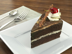 chocolate cherry cake model