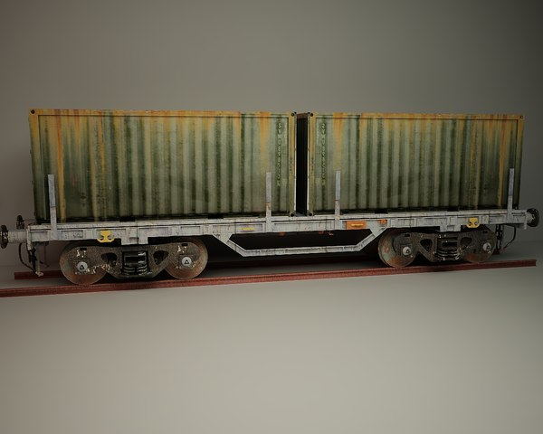 3D wagon container model