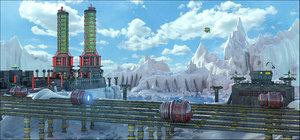 3D sci-fi landscape
