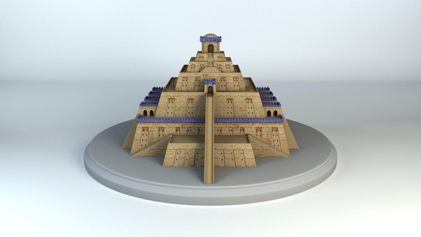 3D Model Mesopotamia Ziggurat