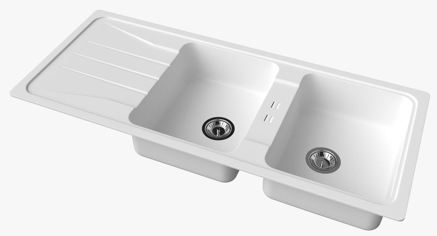 3D sink blanco sona 8