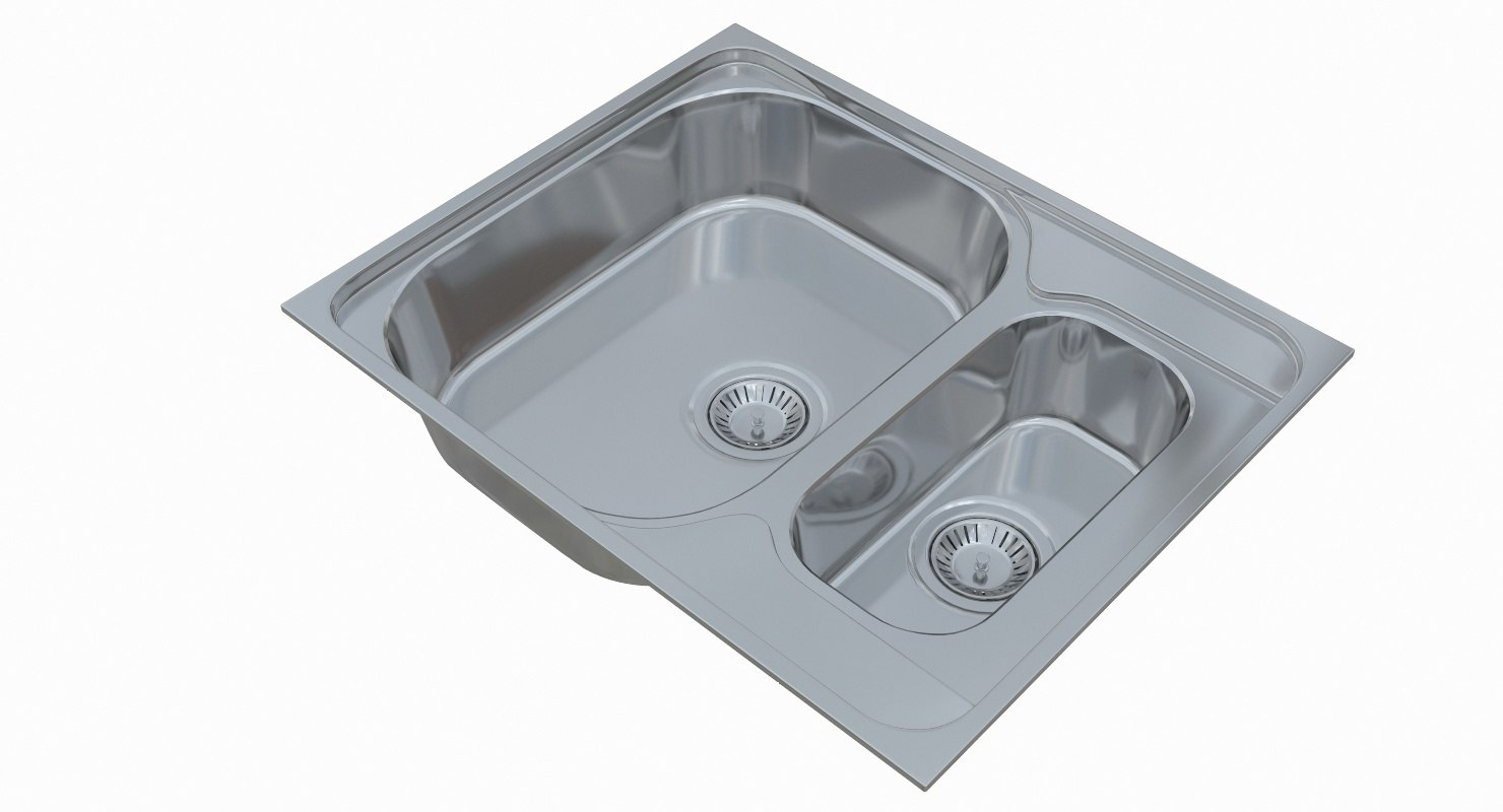 3D sink blanco tipo 6